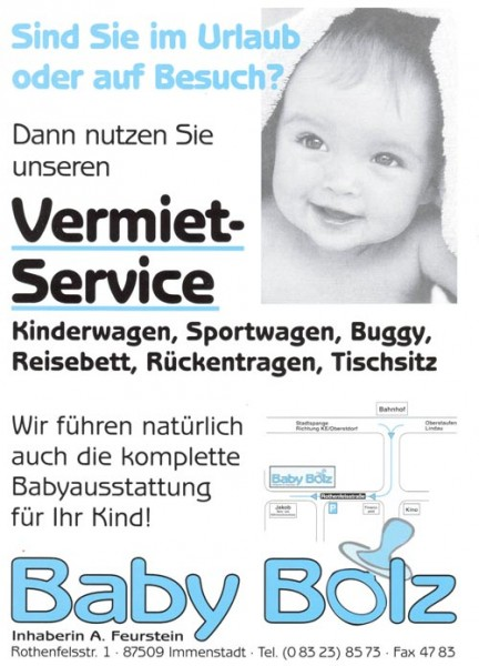 Vermiet-Service Baby Bolz